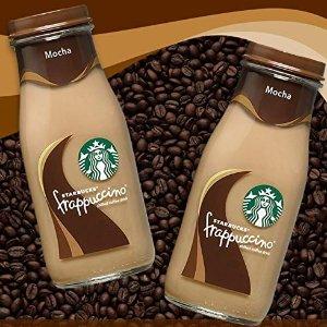 降价 摩卡口味只要$11.95星巴克 玻璃瓶装星冰乐咖啡饮料 11oz 15瓶