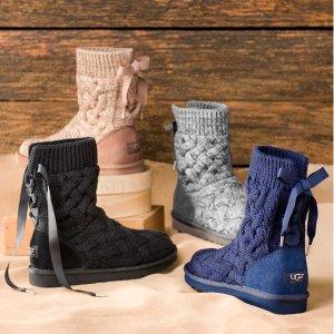 额外8折 封面毛线靴$48Saks Off 5th 精选鞋子、包包限时促销