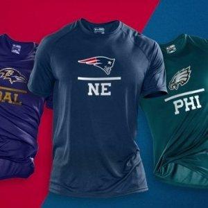 低至5折Under Armour NFL 合作款运动T恤、卫衣、长裤等促销