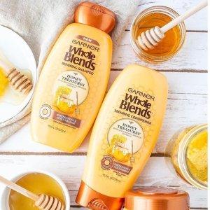 $7.21(原价$11.29)Garnier 蜂蜜修复洗发水特卖 深层清洁 防止分叉断发
