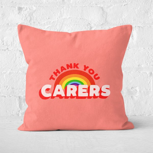 Thank You Carers Square Cushion
