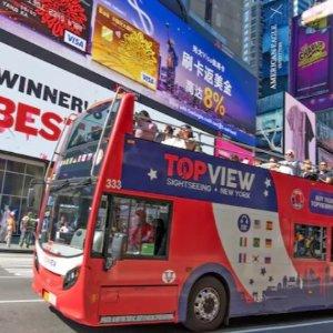 每人低至$33 随上随下随心游TopView 纽约双层敞篷观光大巴全日票超低价