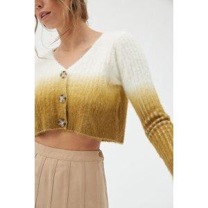 Urban OutfittersUO Lesley Dip-Dye Cardigan