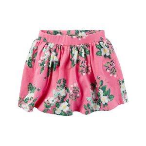 Carter's OshKosh 粉色花卉图案短裙