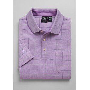 3 for $99Traveler Collection Traditional Fit Windowpane Plaid Short-Sleeve Polo Shirt - Traveler Polo Shirts | Jos A Bank