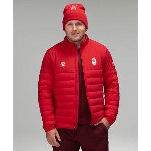 Lululemon700FP蓬松度 修身保暖Team Canada 22 保暖外套 男