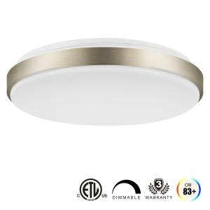 $38.99 (原价$49.99)LVWIT 15寸 160瓦等效 LED节能 可调亮度 圆形吸顶灯