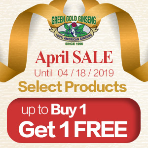$0 Ginseng fibers for all orders$100+April Special Sale: Select products up to Buy 1 Get 1 Free Ginseng fibers or Ginseng Mini Slices for all orders over $100!