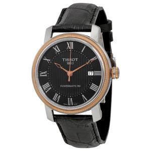 Extra $40 OffDealmoon Exclusive:TISSOT Bridgeport Powermatic Black Dial Men's Watch