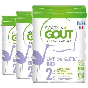 8折 宝宝的营养专家Good Goût 2段3段婴儿奶粉热卖 法国BIO有机认证