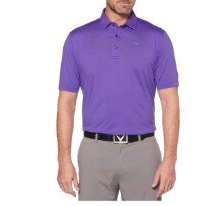 CallawayMens Cooling Micro Hex Polo With Chevron
