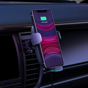 AUKEY Wireless Car Charger 10W Qi Fast Charging Auto-Clamping
