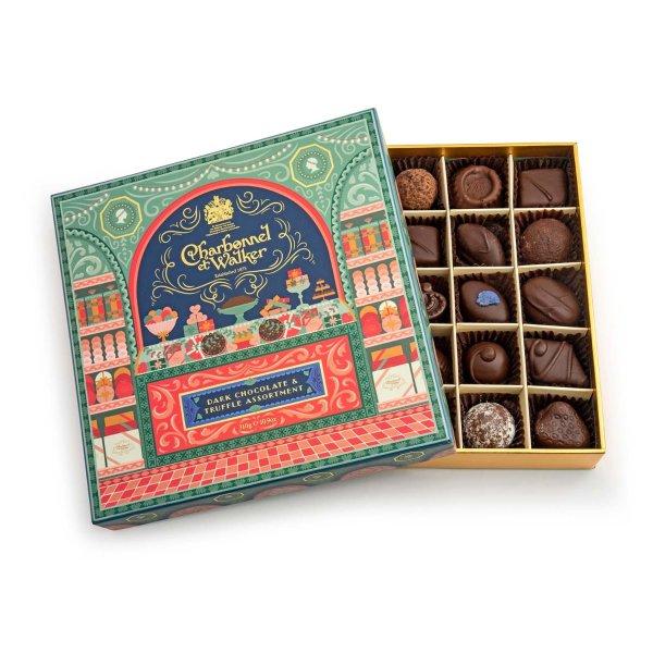 黑巧克力+黑松露巧克力礼盒
