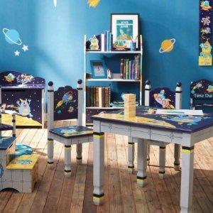 7.5折+额外8折+包邮Teamson 儿童高品质木质家具,收书架、收纳柜等