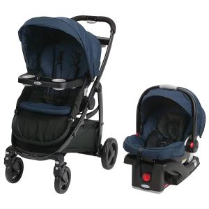 $399.97(原价$679.99)逆天价:Graco 双向平躺避震等多功能婴儿推车、安全座椅套装