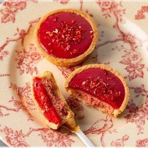 [日本直邮] 日本名菓 银之葡萄 覆盆子酱草莓蛋挞 5枚装