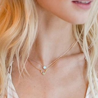 $9.9起 做个精致猪猪女孩PAVOI 简洁款装饰项链、戒指、耳钉热卖