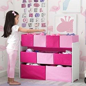 $22.33(原价$39.99)+包邮史低价:Delta 儿童玩具收纳架 粉色