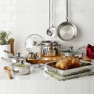 Cooks21-pc. Stainless Steel Cookware Set