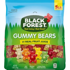 $8.3Black Forest Gummy Bears Candy, 5 Lb