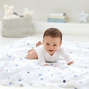 aden + anais 儿童经典纱布巾4条
