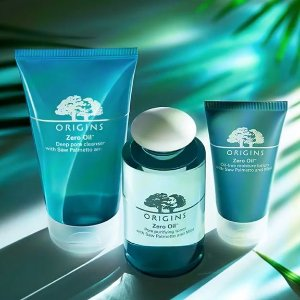 Last Day: Dealmoon Exclusive Enjoy 25% offwith Zero Oil Collection +Spend $45 & get a free super deluxe United State toner + spend $75 and get a free 12-piece kit @ Origins
