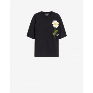 MoschinoT-shirt with Daisy embroidery - Manifesto Daisy - Boutique Moschino | Moschino Official Online Shop