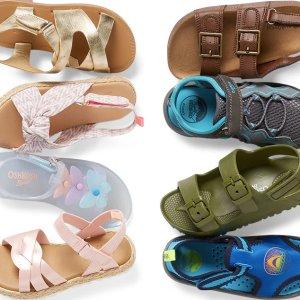 水鞋$12/双 人字拖$3OshKosh BGosh 婴儿、儿童鞋刷新低 洞洞鞋$9.6 婴儿鞋$7+