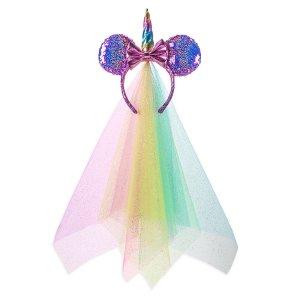 DisneyMinnie Mouse Unicorn Sequined Ear Headband   shopDisney
