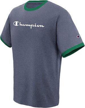 Champion Men's Classic Jersey Graphic Ringer T-Shirt @ Amazon.com