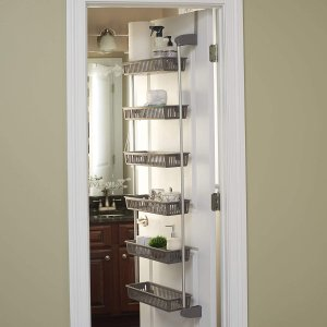 Household Essentials 2150-1 Over The Door Storage Shelves 6-Tier
