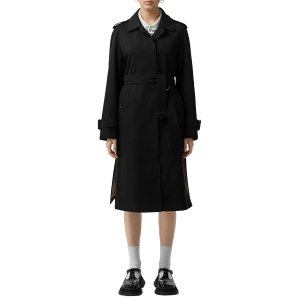 BurberryCrostwick Side Slit Tropical Gabardine Trench Coat