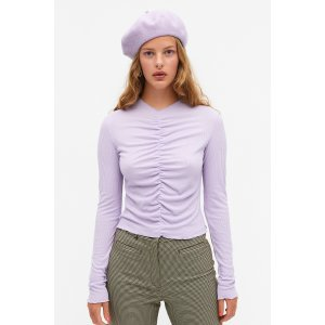 Monki香芋紫修身上衣