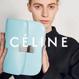 低至3.6折+满减Celine 经典美包补货 收樱花色Box 牛油果绿钱包