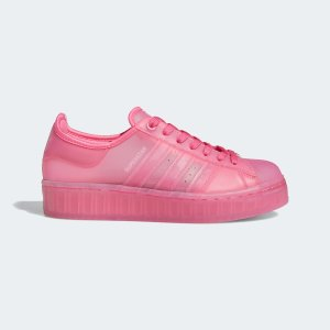 Adidas浓郁玫红Superstar 果冻女鞋
