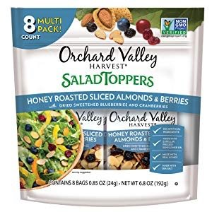$5.63ORCHARD VALLEY HARVEST Salad Toppers, Honey Roasted Sliced Almonds & Berries, Non-GMO, No Artificial Ingredients, 0.85 oz (Pack of 8) @ Amazon