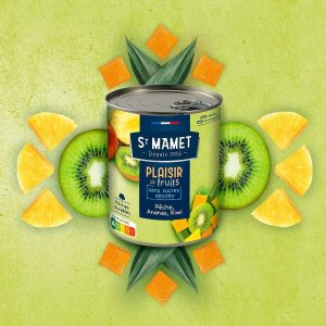 桃子/菠萝/猕猴桃St Mamet 混合水果罐头 412g