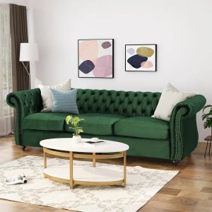 Christopher Knight HomeSomerville Chesterfield Tufted Velvet Sofa by Christopher Knight Home