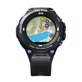 $199Casio Pro Trek 男士户外运动GPS手表 靛蓝