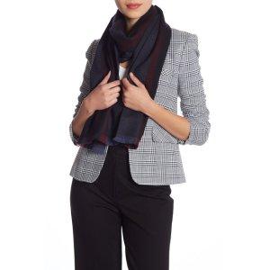 GucciStriped羊毛围巾