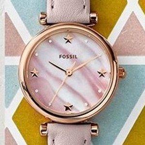 Fossil 精选时装女表特卖 星星款、水晶款都超美