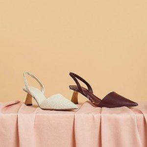 正价8折+送礼 $31收Celine平替款Charles & Keith 异形跟设计感美鞋热卖