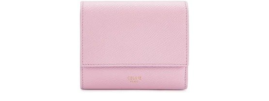粉色三折钱包
