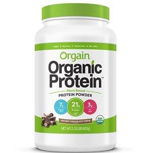 $15.82,巧克力口味Orgain 有机植物蛋白粉2.03磅热销