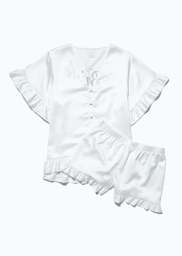 白色蕾丝睡衣