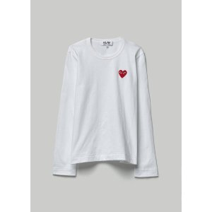 Comme des Garcons PlayLong Sleeve Red Heart T-shirt