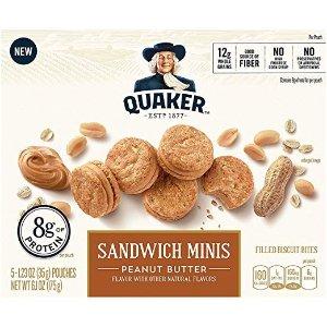 QUAKER 花生酱夹心小饼干 3.5磅