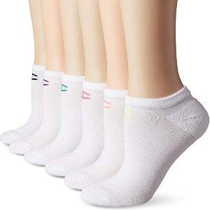 $5.99(原价$7.49)白菜价:Champion 女款低帮运动袜 6双 黑色白色可选