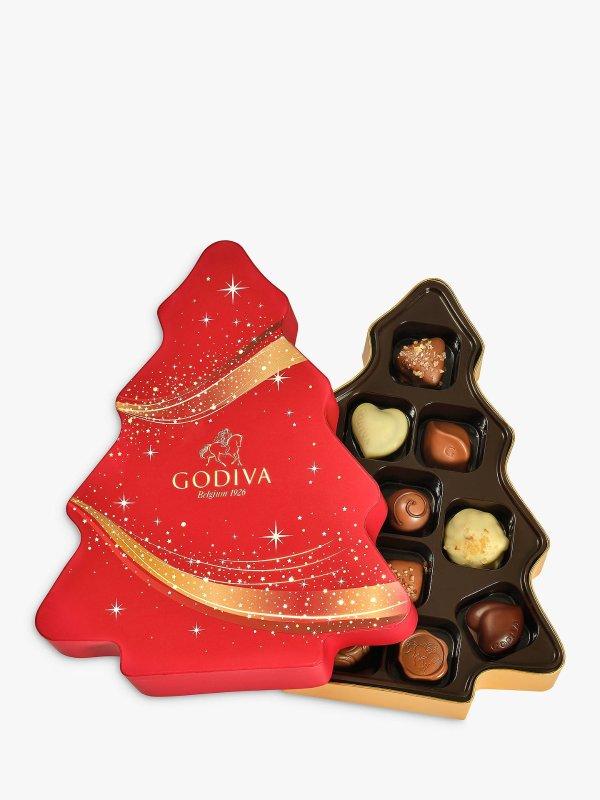 Godiva圣诞树巧克力礼盒 124g