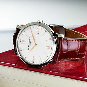 $649 (原价$1650)史低价:Baume and Mercier Classima Executives 系列时装男表